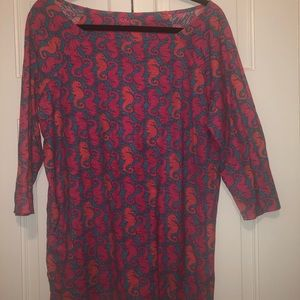 Lilly Pulitzer 3/4 length blouse